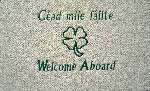 Welcome aboard custom boat mat
