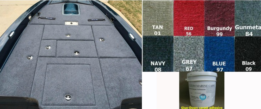 High Quality Bass Boat Carpet Replacement Materials!